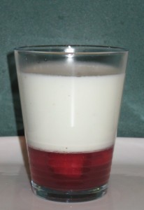 Raspberry Panna Cotta in Glass