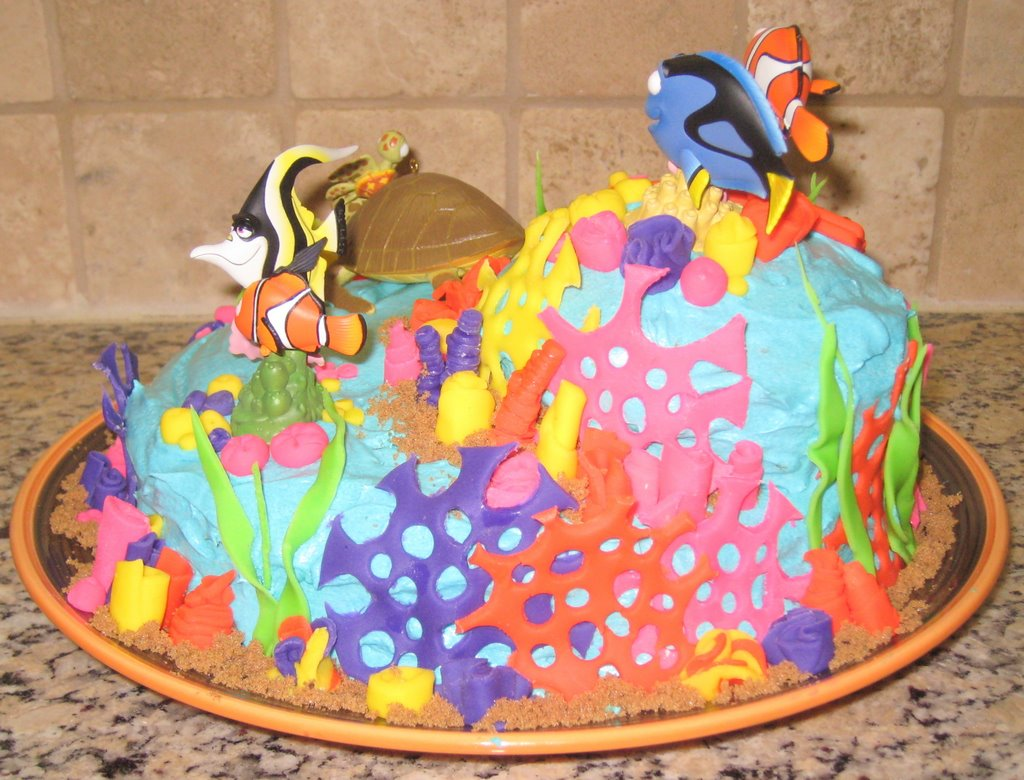 Faiths Finding Nemo First Birthday Cake No Shortcuts