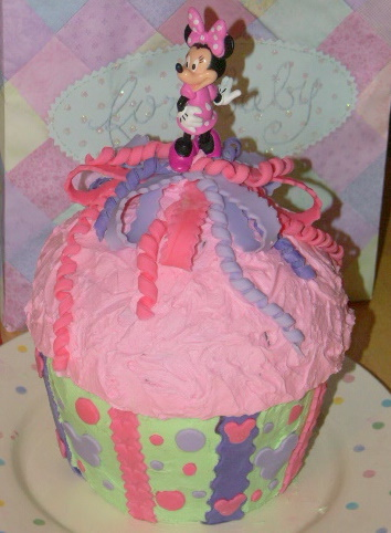 Caitlin S 1st Birthday Minnie Mouse Cupcake No Shortcuts