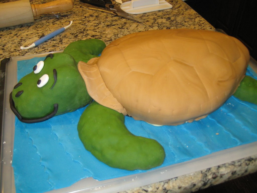 Turtle Cake With Store Bought Frosting